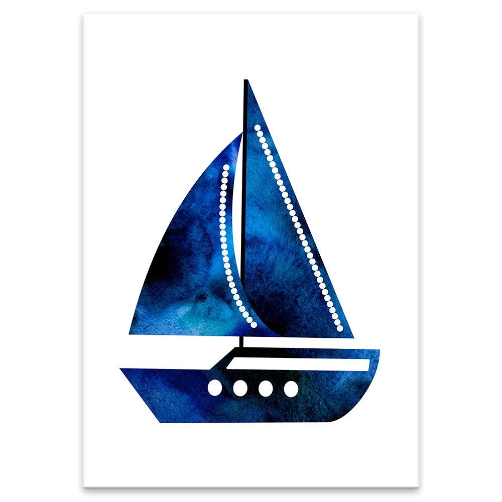 Maritim Segeln Lilcastle/® Kinder Poster 4er Set Bilder Kinderzimmer Deko f/ür Junge DIN A4 Meer Seemann Wandbild Babyzimmer Spielzimmer Deko Plakate Wal Anker Schiff Kompass