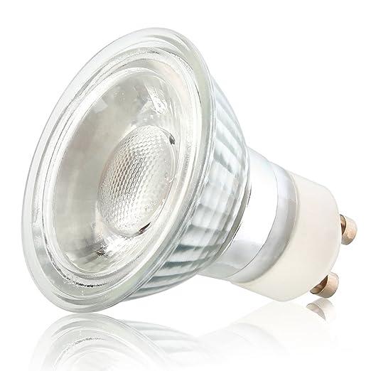 mengjay® 1 PIEZA – Regulable LED COB GU10 5 W Bombilla (equivalente a 50