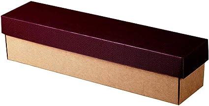25 X 1er Vino de cartón, caja de cartón con tapa, abierto onda, 36 x 9 x 9 cm, burdeos/natural: Amazon.es: Oficina y papelería