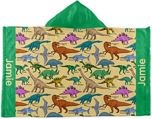 RNK Shops Dinosaurs Kids Hooded Towel (Personalized) by RNK Shops
