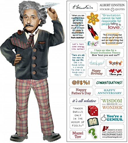 - Albert Einstein Quotable Notable - Die Cut Silhouette Greeting Card and Sticker Sheet