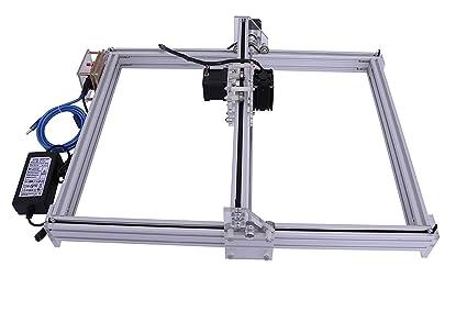 DIY CNC Laser Engraver Kits Wood Carving Engraving Cutting Machine Desktop  Printer Logo Picture Marking, 40x50cm,2 Axis (300MW)