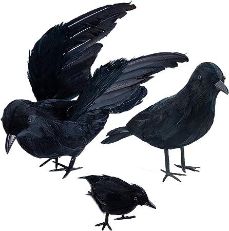 How To Get To Darnassus For 2020 Halloween Amazon.: Darnassus 3 Pack Realistic Handmade Crow Decor