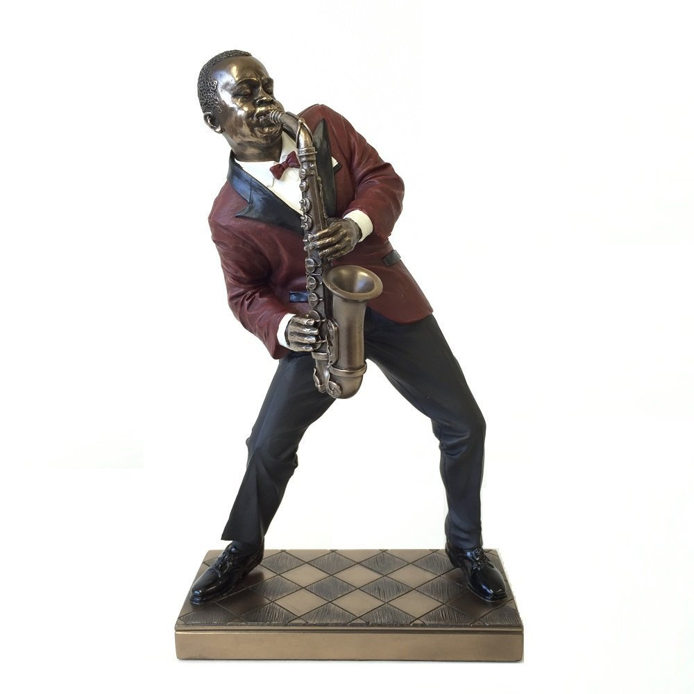 Alto Saxophone Player Statue Sculpture - Jazz Band Collection by wu