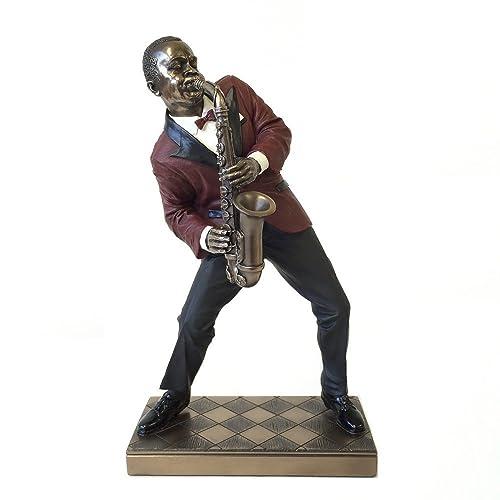 Alto Saxophone Player Statue Sculpture – Jazz Band Collection