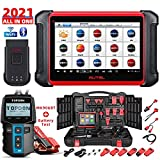 Autel Scanner MaxiCOM MK906BT with Battery Tester BT100, New Model of Maxisys MS906BT/MS908/MS906TS, 2021 Auto Scan Tool with ECU Coding, 31+ Service Functions, All Systems Diagnostics, Active Test