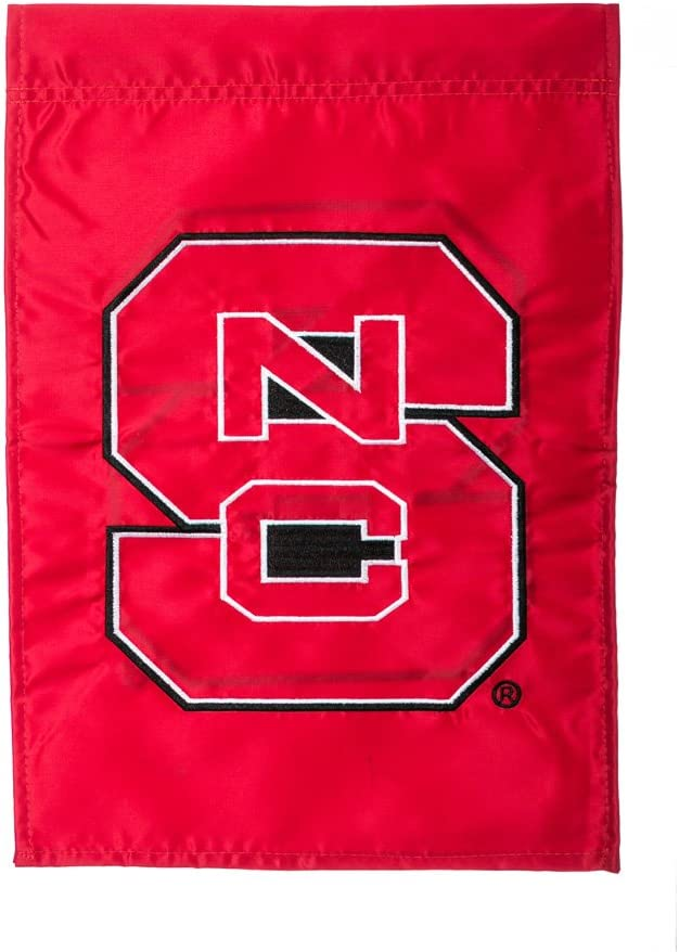 Team Sports America Applique North Carolina State University Garden Flag, 12.5 x 18 inches