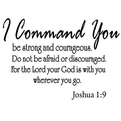 amazon com i command you be strong and courageous joshua 1 9 vinyl