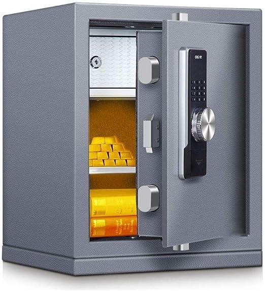 Wtbew-u Caja Fuerte Segura, Caja Segura, Caja Fuerte Segura del Dinero, Caja Fuerte Segura Segura Mini Digital Segura, Caja Segura Segura de la Caja electrónica Segura (tamaño: 38 * 32 * 48cm):