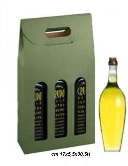 Beauty Cart Caja para 3 Botellas pequeñas Vino-Olio, conf ...