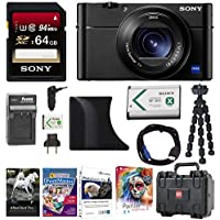 Sony DSC-RX100M5 Cyber-shot Digital Camera w/ AGR2 Grip & 64GB Accessory Bundle