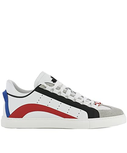 DSQUARED2 HOMME SNM010111570001M072 BLANC CUIR BASKETS d04r05WDI