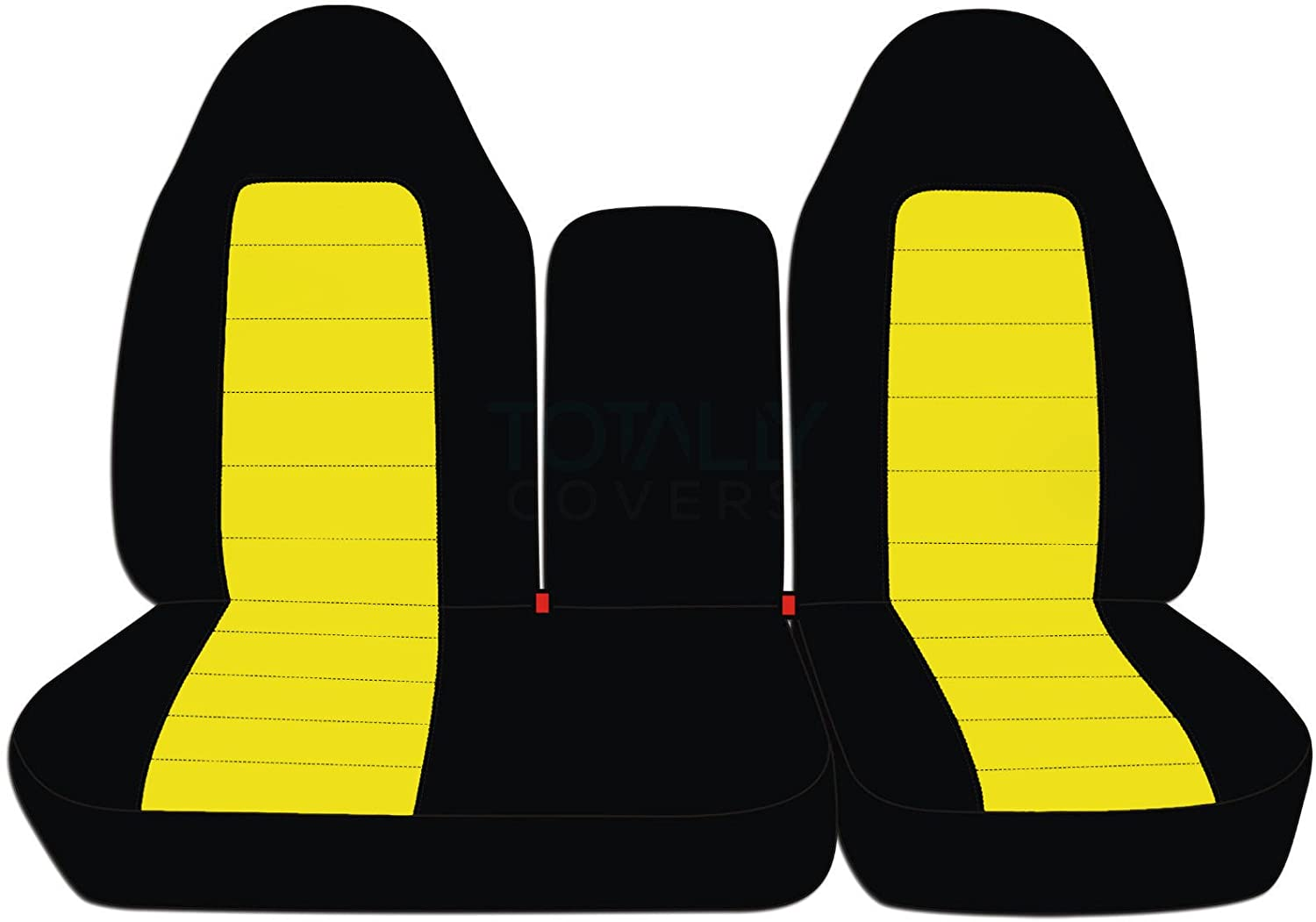 21 Colors 1998 1999 F-Series F150 with Opening Center Console//Solid Armrest: Black /& Brown Totally Covers Fits 1997-2000 Ford F-150 Two-Tone Truck Seat Covers Front 40//60 Split Bench