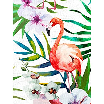 Home & Garden Supply Diamond Painting Art Beaded Embroidery Painting Rhinestones Diamond Mosaic All Drill Embroidery Girl With Flamingo