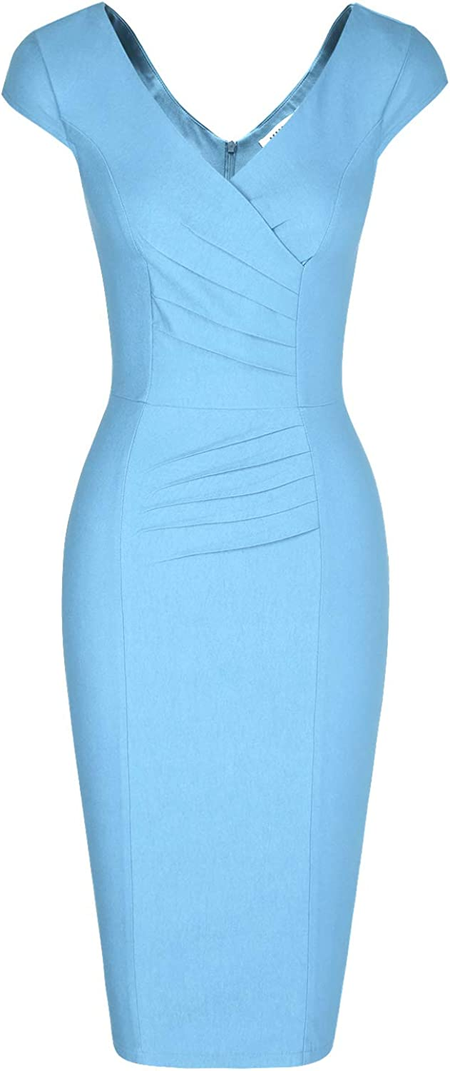 Top 9 Blue Vneck Dress Office