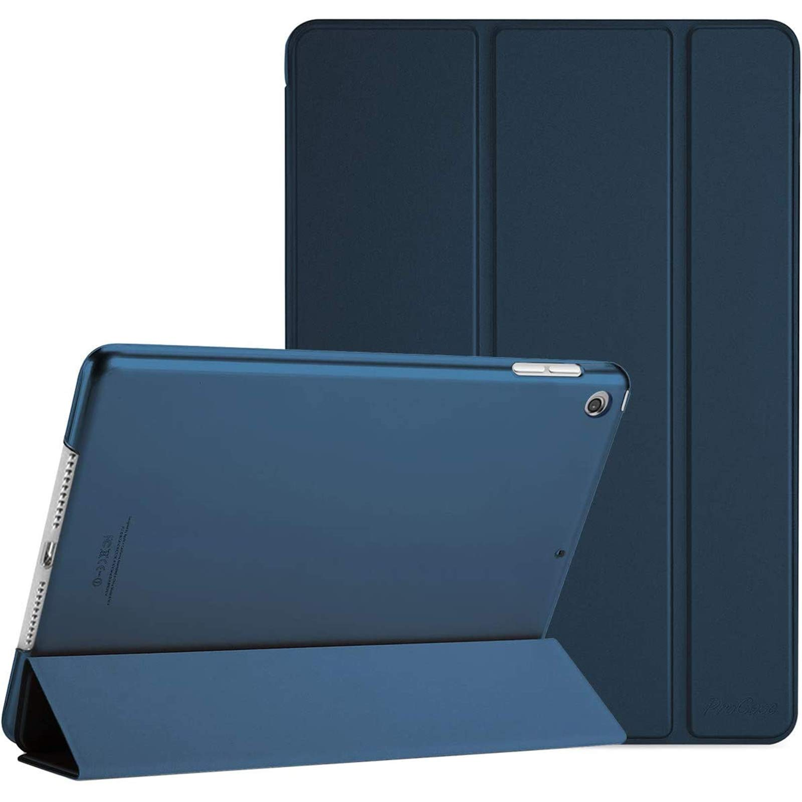 ProCase iPad 10.2 Case 2020 iPad 8th Generation / 2019 iPad 7th Gen Case, Slim Stand Hard Back Shell Protective Smart Cover Case for iPad 10.2 Inch -Navy