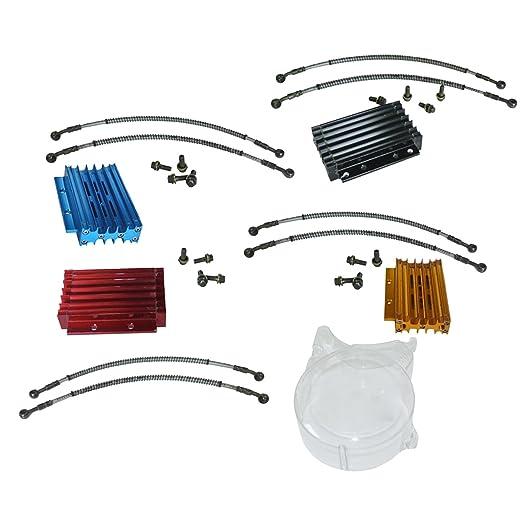 Nuevo aceite radiador de refrigeración del motor estator funda Juego para Honda XR/125 cc suciedad Pit Bike: Amazon.es: Coche y moto