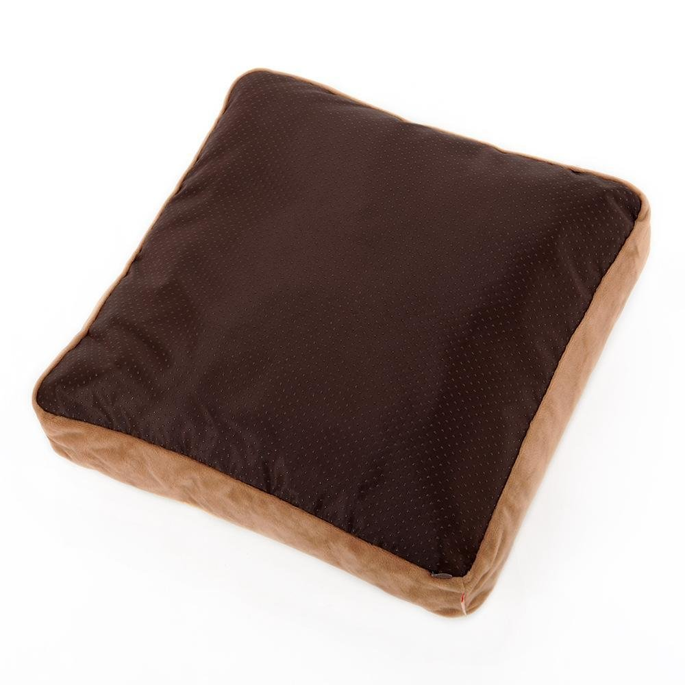 Lozse Pet Beds Kennel Cat Litter Slice toast cushion bread cat washable cat cushion crystal velvet + drop plastic 40  40cm for Dogs and Cats Sleeping Cushion