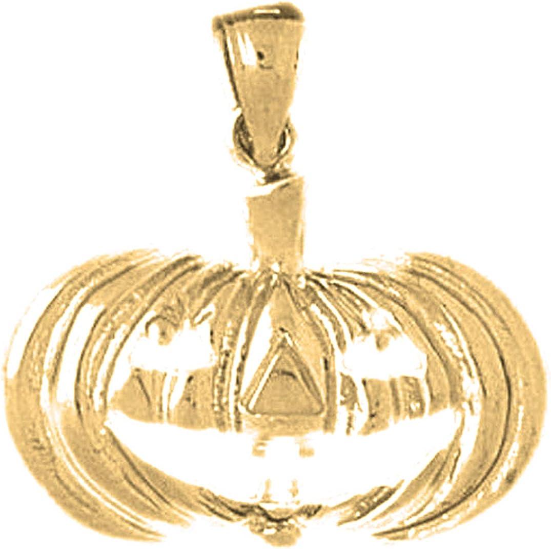 14K Yellow Gold-plated 925 Silver Pumpkin Pendant Jewels Obsession Silver Pumpkin Pendant