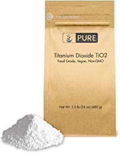 Titanium Dioxide TiO2 (1.5 lb.) by Pure Organic Ingredients, Eco-Friendly Packaging, Non-Nano, Food & USP Grade, Vegan, Non-GMO
