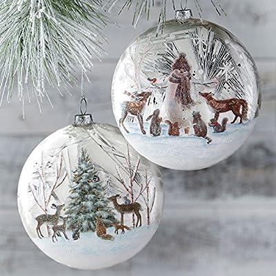 Woodland Animals Decorating Tree Disc Christmas Ornament Tree Decoration