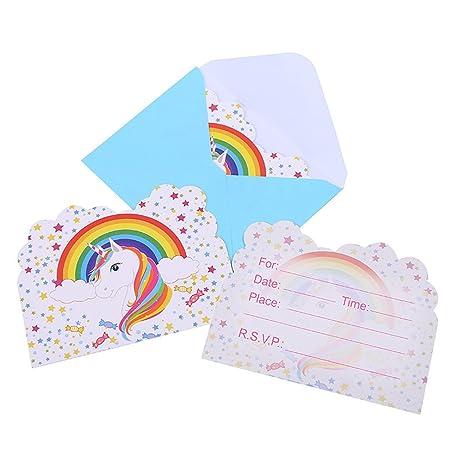 Invitaciones grandes de unicornio mágico para niños arco ...