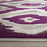 Safavieh Porcello Collection PRL7736B Ivory and Purple Area Rug (6′ x 9′)