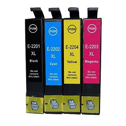 Karl Aiken 4 unidades 220 T220 XL Cartuchos de tinta Epson ...