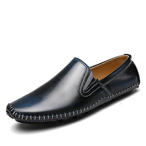 Zapatos Casuales de Cuero para Hombre Zapatos de conducción Hechos a Mano de mocasín Mocasines Zapatos náuticos: Amazon.es: Zapatos y complementos