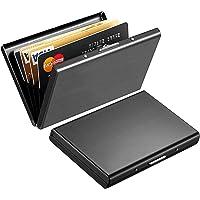YGL 2 Piezas Estuche Protector de Bloqueo RFID, Acero Inoxidable Titular de la Tarjeta de Crédito
