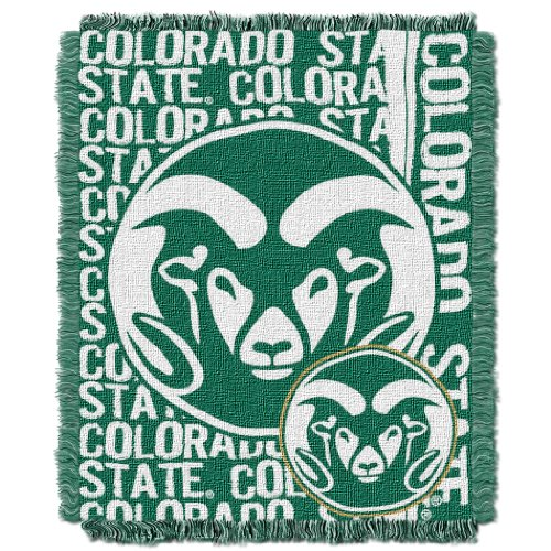 The Northwest Company Officially Licensed NCAA Colorado State Rams Double Play Jacquard Throw Blanket, 48