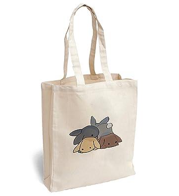 a70da91fa4 Amazon.com  cute playing rabbits for colorful rabbits happy small rabbits  Canva Bag Tote Handbag Shoulder Bag Sports Leisure Picnic  Shoes