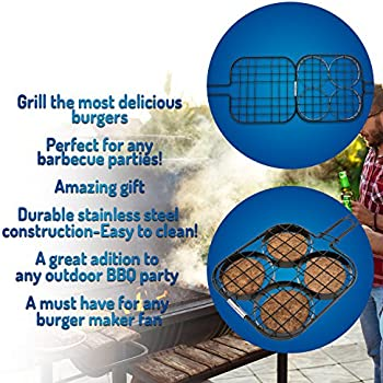 Corona BBQ Grill Accessories Set as Hamburger Grill Basket with Locking Grill