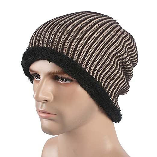 09ac1bc100c65 Image Unavailable. Image not available for. Color  Slouchy Winter Hats  Knitted Beanie Caps Soft Warm Ski Hat ...