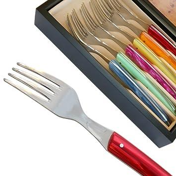 Thiers Taschenmesser Actiforge 6 Gabeln Griff Aus Plexiglas
