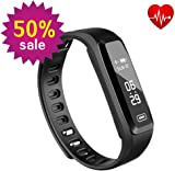 WitMoving Fitness Tracker, New Sport Water Resistant Smart Bracelet Wristband Watch with Heart Rate Monitor Pedometer Touchscreen for iPhone Samsung IOS Android Smartphones