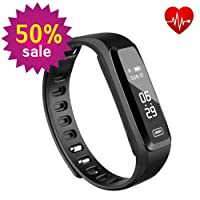Fitness Tracker, Witmoving New Sport Water Resistant Smart Bracelet Wristband Watch with Heart Rate Monitor Pedometer Touchscreen for iPhone Samsung IOS Android Smartphones