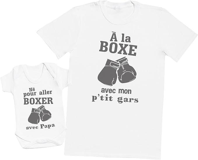 Hommes T-Shirt /& Body b/éb/é Ensemble P/ère B/éb/é Cadeau Mon Papa a Le Gar/çon Le Plus g/énial au Monde!
