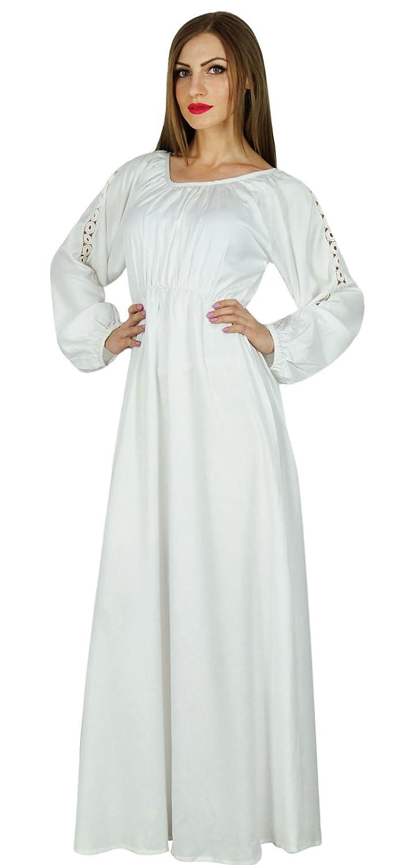 Bimba Frauen Boho langen Ärmeln Kleid lange Maxi-Kleid Spitze gotischen Stil