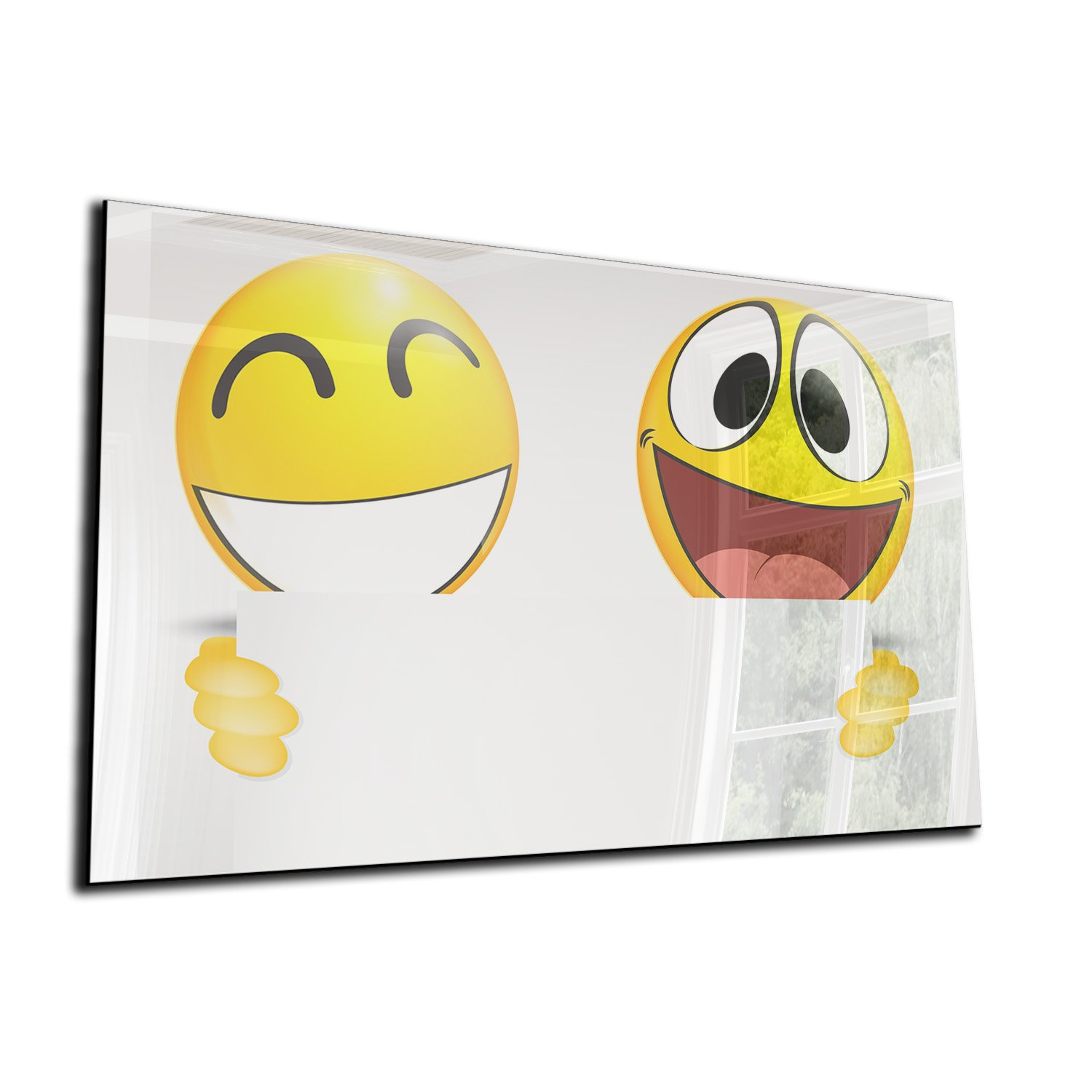 Deko 110x65 Magnetic Whiteboard Magnetic Glass Memo Board Magnetic Glass Board Boards Board Memo Board Tempered Glass, High Gloss Phone Cover Case – Smileys Yellow
