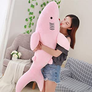 50/70/80cm Shark Plush Shark Whale Stuffed Fish Ocean Animals Doll Toys for Children Kids Cartoon Toy Baby's Gift (50CM, A)