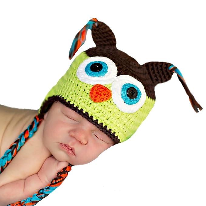 amazon com melondipity boys crochet owl newborn baby hat soft