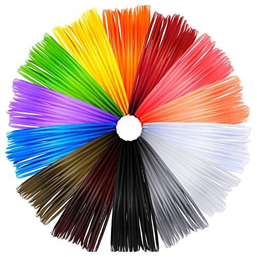 Anpro 14 Piece 3D Printer Filament for 3D Print Pen Multicolor Pack 1.75mm...