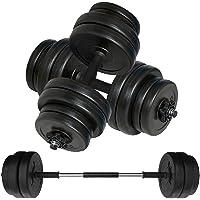 Body Revolution Dumbbell Set Adjustable Dumbbells Weight Set with Barbell Link Accessories - 10kg 15kg 20kg 30kg 40kg 50kg