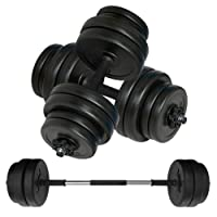 Body Revolution Dumbbell Set Adjustable Dumbbells Weight Set with Barbell Link Accessories - 10kg 15kg 20kg 30kg 40kg 50kg