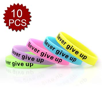 glow bands never bracelets wristbands in silicon rubber pcs give silicone the dark dp gogo up