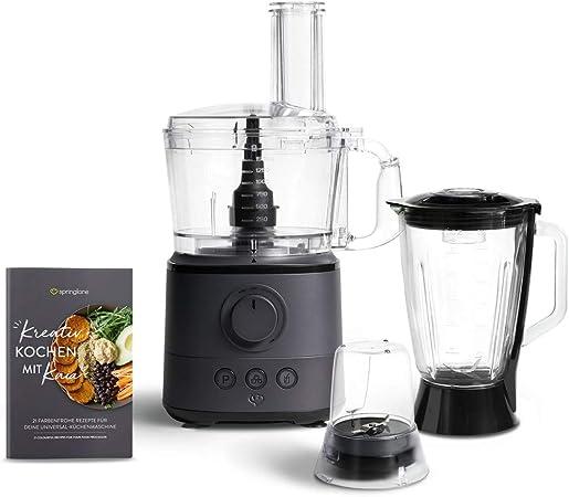 Procesador de Alimentos Kaia 1000W, 1.5L, 18.000 rpm Robot de Cocina Multifunción - Antracita: Amazon.es: Hogar