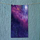 SeptSonne swimmer towel Spiritual Dim Star Clusters Milky Circle Back with Solar System Moisture Wicking W11.8 x H27.5 INCH