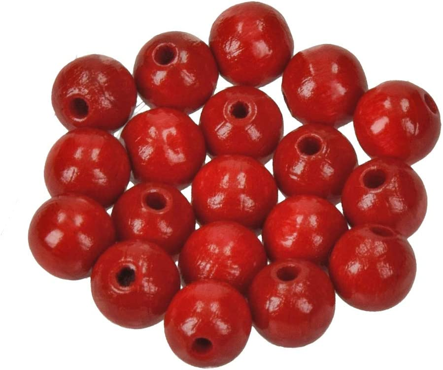 EFCO 1400829 - Agujero para cuentas de madera (10 mm, 53 unidades), color rojo