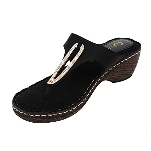 bbd6c8d9f Catwalk Black Slip-On Sandals  Buy Online at Low Prices in India - Amazon.in